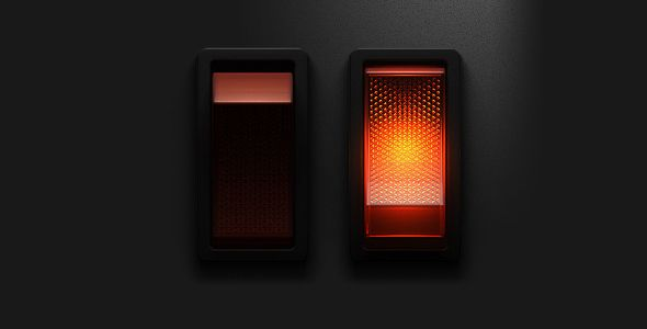 realistic lighted rocker switch ui design