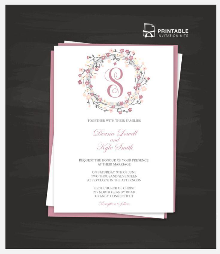 Wedding Invite Free Templates: Best 25+ Invitation Templates Ideas On Pinterest