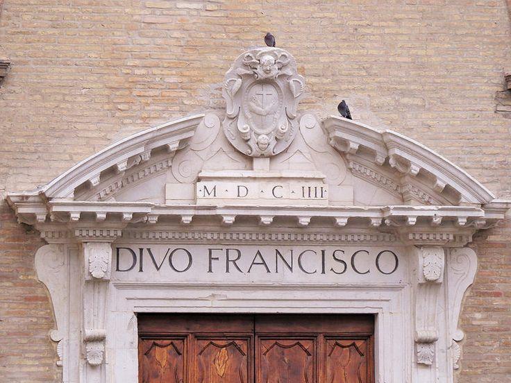 Fermo, Marche. Italy- St Francesco Tympanum
