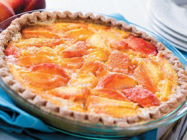 Grandma Harriger's Peach Custard Pie