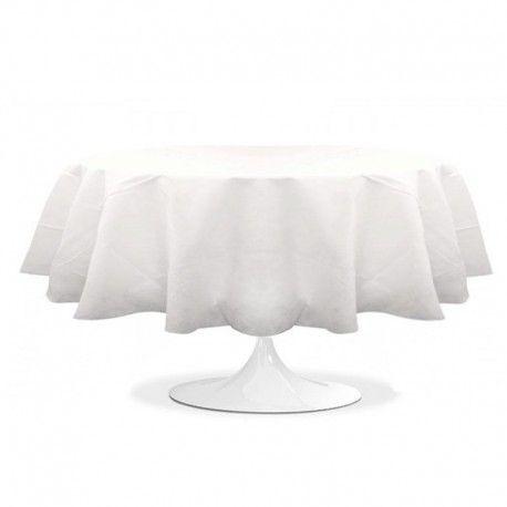 Couvrez de cette nappe ronde de couleur blanche pas cher vos tables de mariage ou pour toute autres cérémonies comme un anniversaire ou un baptême.
