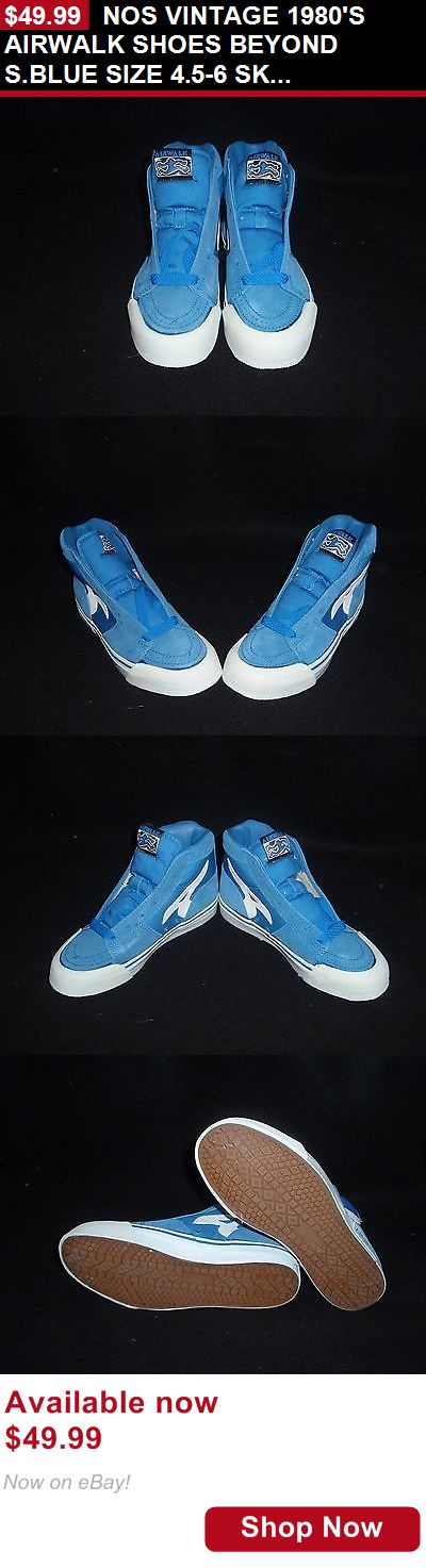 Men vintage clothing and shoes: Nos Vintage 1980S Airwalk Shoes Beyond S.Blue Size 4.5-6 Skateboard Bmx Shoes BUY IT NOW ONLY: $49.99