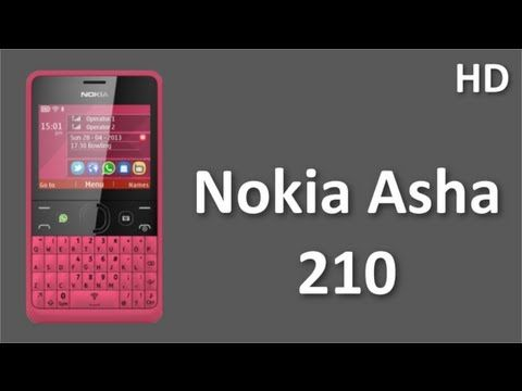 Nokia Asha 210 Mobile Price and Specifications with WhatsApp, Youtube, Facebook