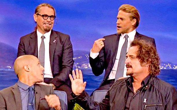 Kurt Sutter and the Sons of Anarchy cast did not disappoint during their Nov. 11 appearance on Conan. Here are nine moments you'll want to...