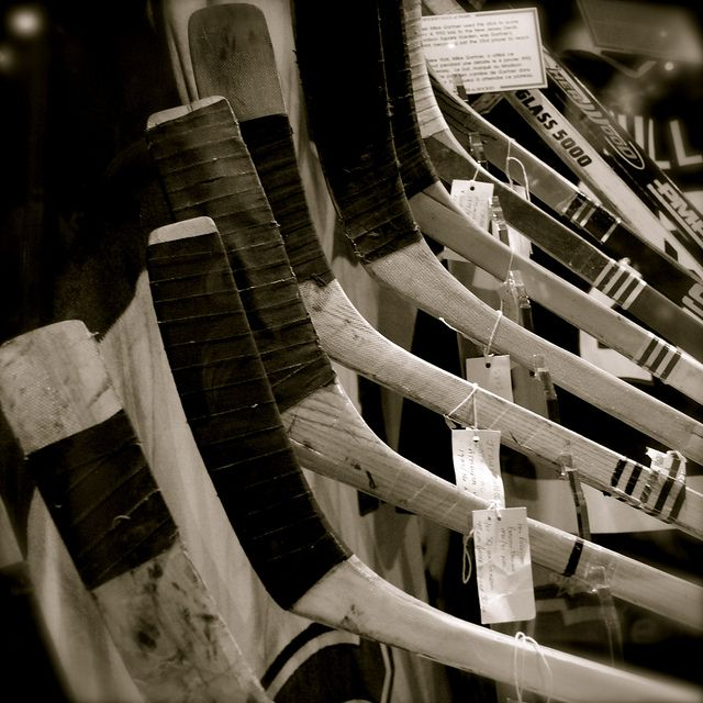 Hockey Sticks. Hockey Hall of Fame.