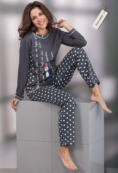 Pijama invierno mujer Massana modelo TOPOS. http://www.perfumeriaelajuar.com/homewear/pijama-mujer-invierno-/30/