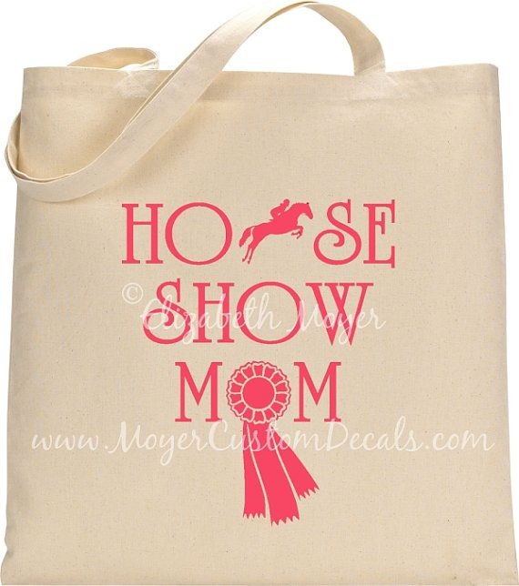 Horse Show Mom Jumper Tote Bag  You choose by MoyerCustomDecals