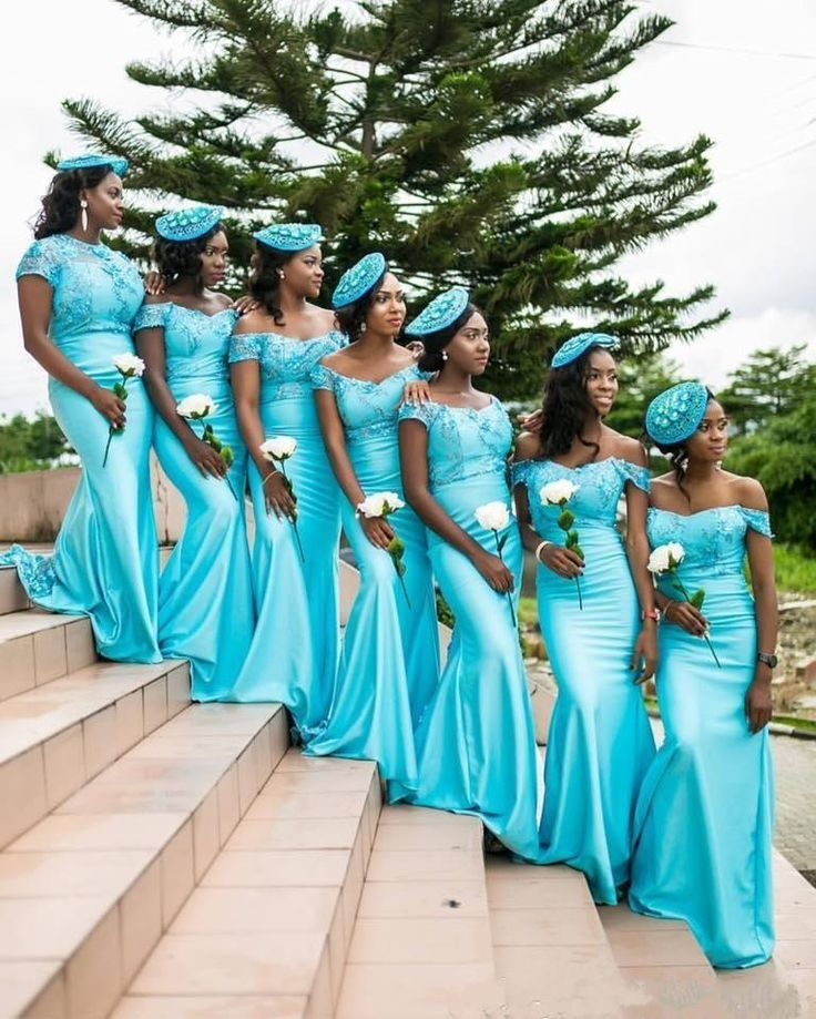 Aqua Teal Turquoise Mermaid Bridesmaid Dresses Off