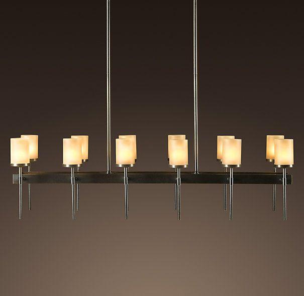 Sloane rectangular 12 arm chandelier chandeliers for Rectangular dining room light
