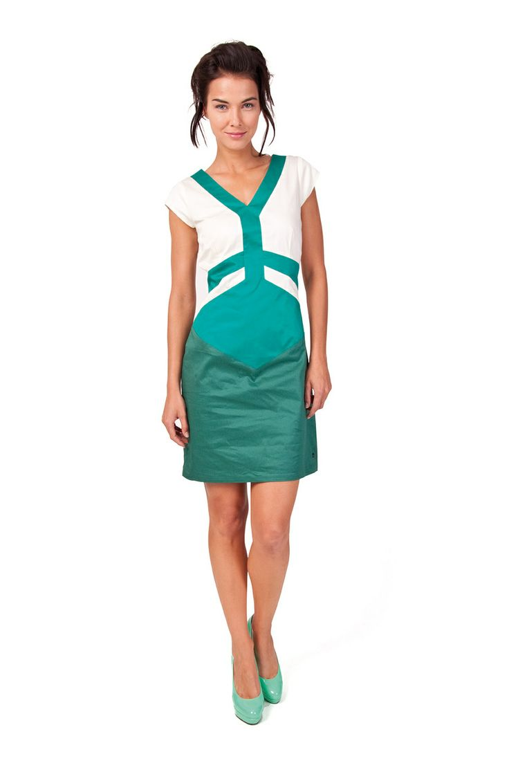AIORA-066 SKUNKFUNK women's dress fabric content: 97% organic cotton + 3% elastane color: white,grey price: $145.00