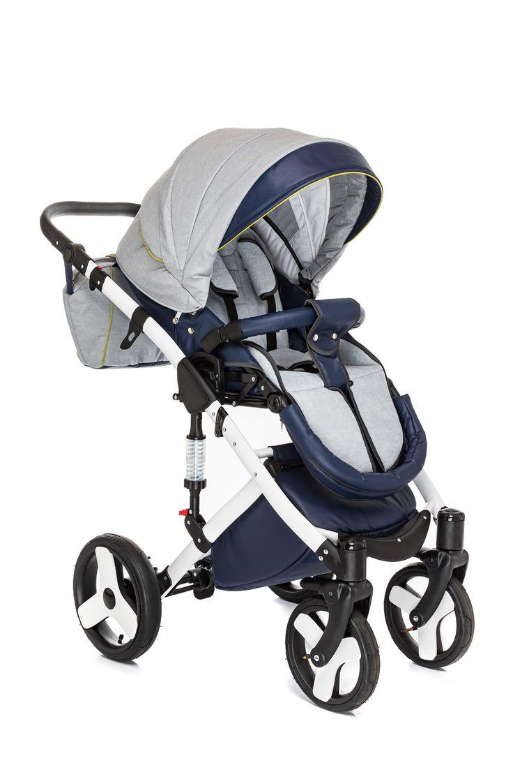 Der #Kinderwagen ALFA SPICE GREY 3IN1 hat Außeneinstellung der Rückenlehne an der #Gondel. Dank dieser Funktion, ist Ihres Kind immer bequem.  #Kombi #Buggy #Babyautositze #Tragetasche #Babyartikel #Kombination3in1