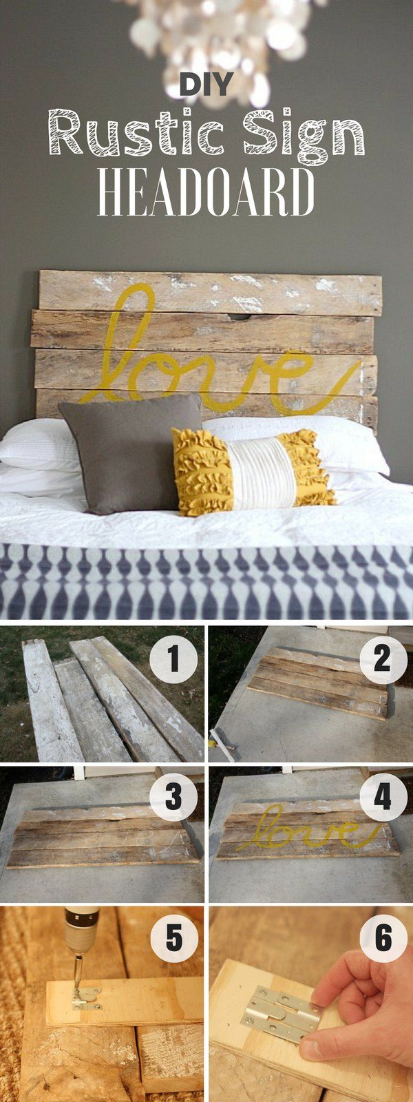 Check out how to build this easy DIY Rustic Sign Headboard @istandarddesign