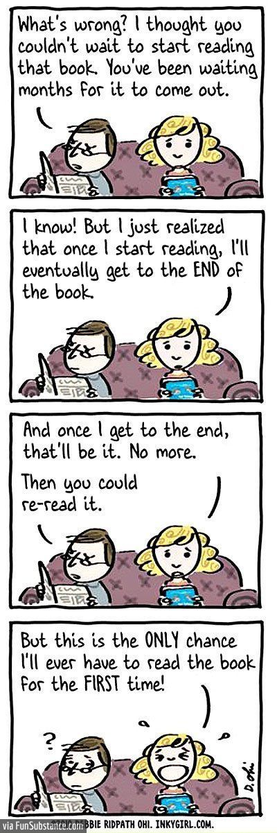 I've actually thought this when reading a new book!!
