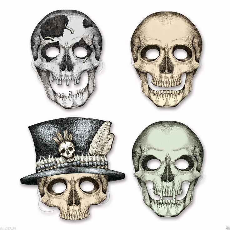 HALLOWEEN Party Favors PAPER Skeleton Face Masks ~ NEW. You will receive 4 masks. Masks have attached elastic strap, printed onONE side only. Fun party favor or could use as a decoration. and I will have no way of knowing it is not correct. | eBay!