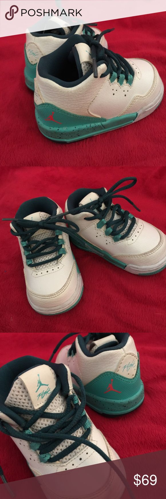🐬 NIKE AIR JORDANS (children's) NO TRADES❌. Authentic NIKE AIR JORDANS for children size 4c (toddler/infant).  Ships ASAP. NO LONGER HAVE THE BOX.  SMOKE FREE HOME Nike Shoes Sneakers