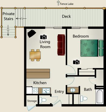 beautiful one bedroom house plans gallery - home design ideas