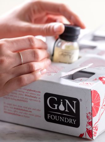 taking craft gin out of Gin advent calendar