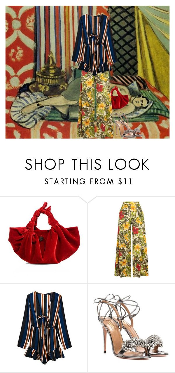 """""""matisse insp"""" by laureckaite on Polyvore featuring The Row, Miguelina and Aquazzura"""