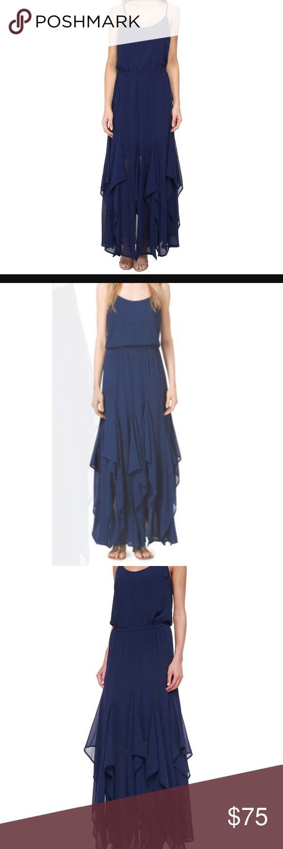 MIchael Kors blue flutter tank maxi dress Used but in great condition - wore only once! Super cute blue flutter dress from MK Michael Kors Dresses Maxi