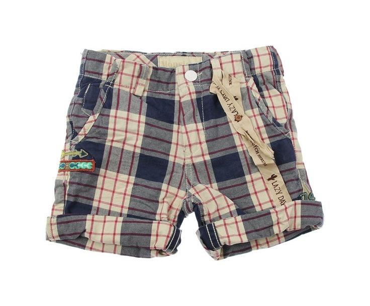 Scotch Shrunk Junior Boys Blue Check Cotton Shorts