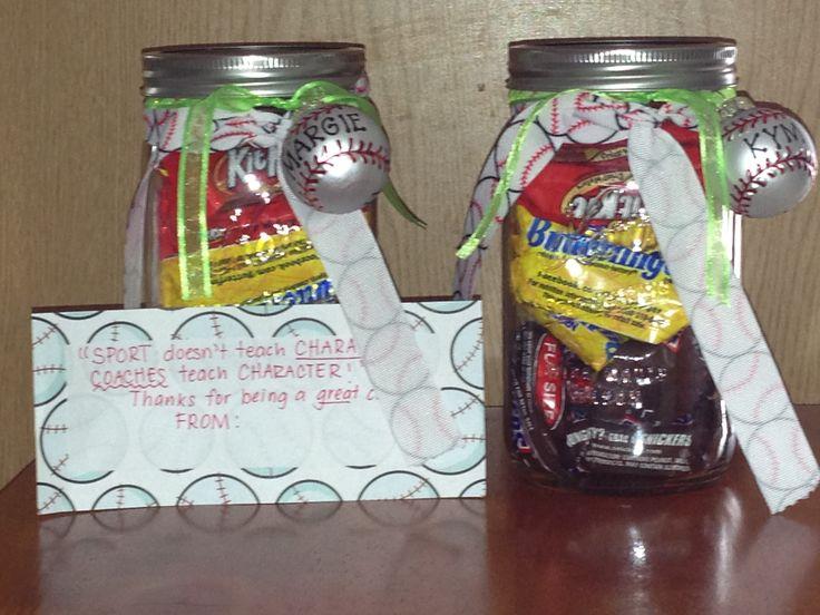 Homemade Softball Coach Gift Ideas
