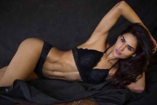 nathalia kaur in sexy black lingerie