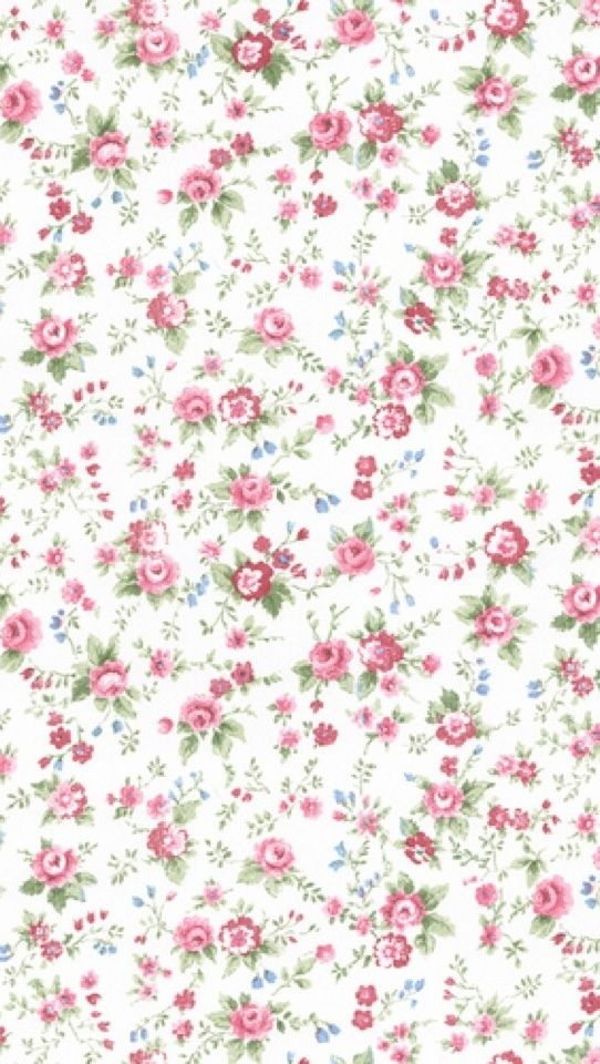 Wallpaper By The Yard Abby Rose Vintage Look Floral Trail Shabby