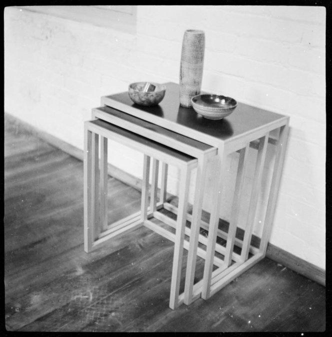 Nesting tables designed by architect Ernst Plischke (between 1951-1953)