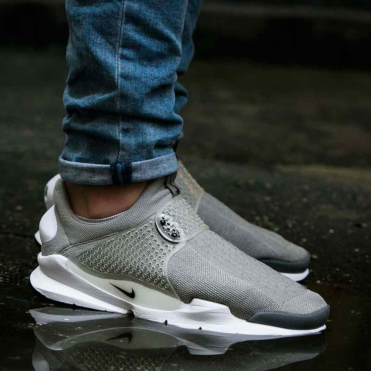 Nike Sock Dart Medium Grey (on feet)