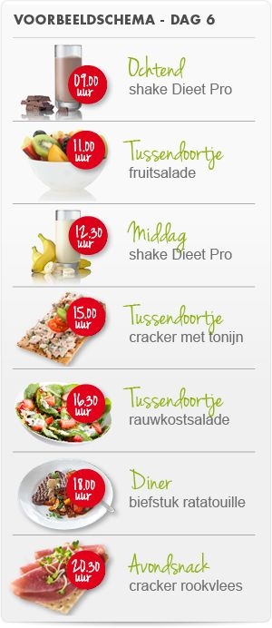 Dieet Pro weekmenu dag 6