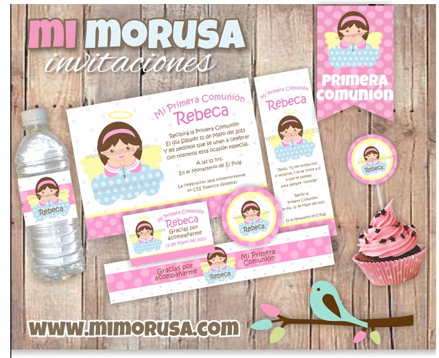 Printable First Comunion Kit for girl / Kit Imprimible de Primera ...