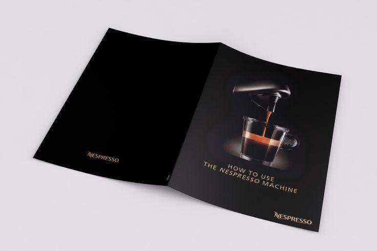 Folded flyers for Nespresso Ireland.