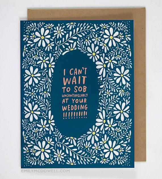 An honest congratulations card for your recently-engaged bestie. #EtsyFinds