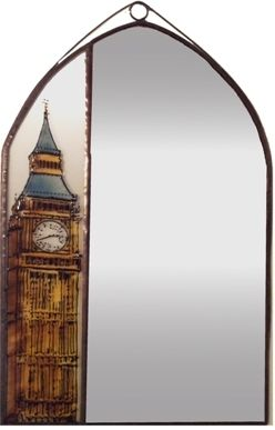 Big Ben tükör Grafika: Navratil Zsuzsa Üvegre kivitelezte: Kőrösi Andrea