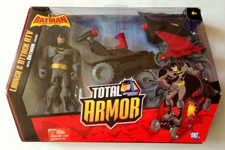 Batman The Brave and Bold Launch Attack ATV Vehicle Batman Figure NIP #Mattel