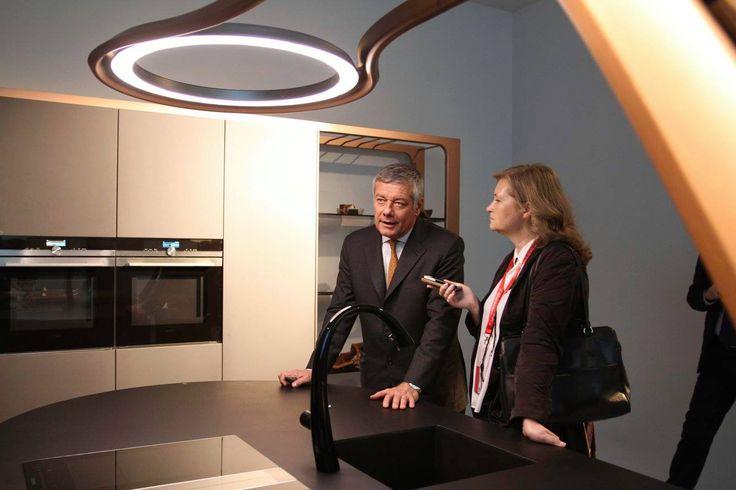 "#Designer Paolo #Pininfarina talks about his new #kitchen ""Aria"" at #Eurocucina #Isaloni 2016."