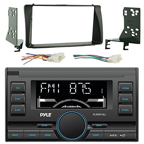 Pyle PLRRR18U USBSDAUX Mechless Receiver Bundle Combo With Metra 2Din installation Dash Kit  Wiring Radio Harness  Wireless Handset For 200308 Toyota Corola Car Vehicles >>> Want to know more, click on the image-affiliate link. #VintageBluetooth Radio