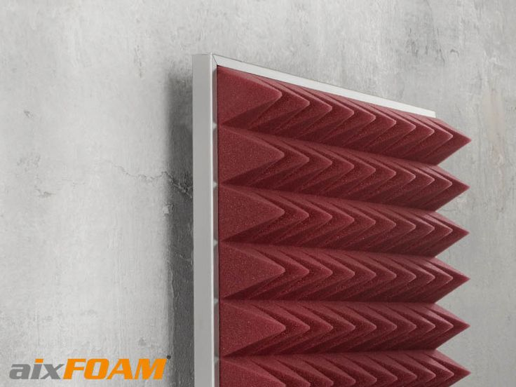 aixFOAM Schallabsorber SH003 Akustik Pyramidenschaumstoff montiert auf Montage Hängekassette - Raumakustik verbessern