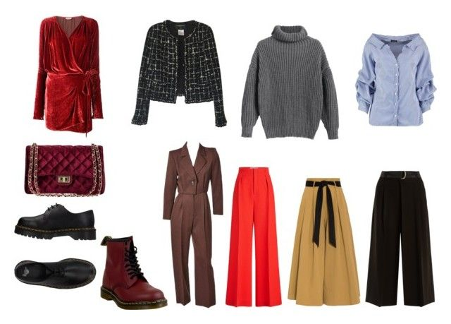thea by alexgasbakk on Polyvore featuring Attico, Boohoo, Chanel, Weekend Max Mara, Temperley London, Yves Saint Laurent, Roland Mouret and Dr. Martens