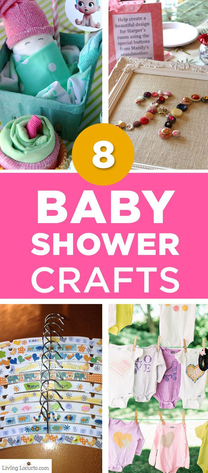 Creative baby crafts for encouraging party guests