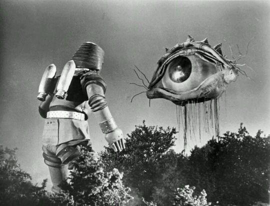 "Giant Robo and the Monster Eye, from ""Johnny Sokko and his Flying Robot""; aka Deisako and Giant Robo"""