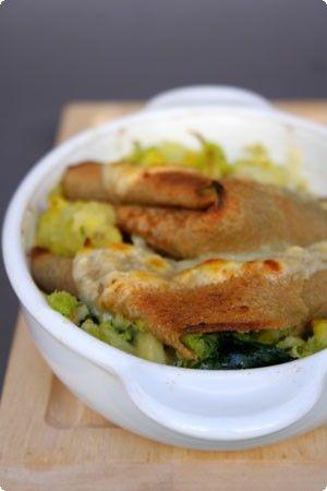 Crepes al grano saraceno  ripiene di verza, patate, spinaci e fontina_ il cavoletto di bruxelles_gluten free