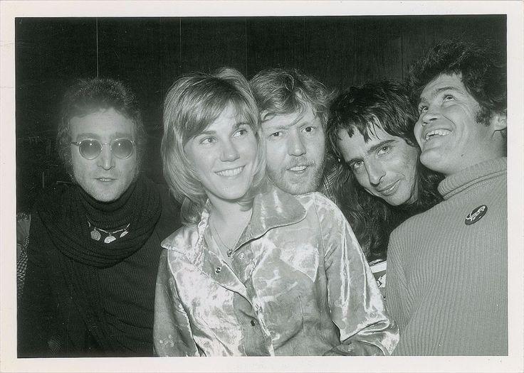 John Lennon, Anne Murray, Harry Nilsson, Alice Cooper and Micky Dolenz. Circa 1974. Photograph by Richard Creamer