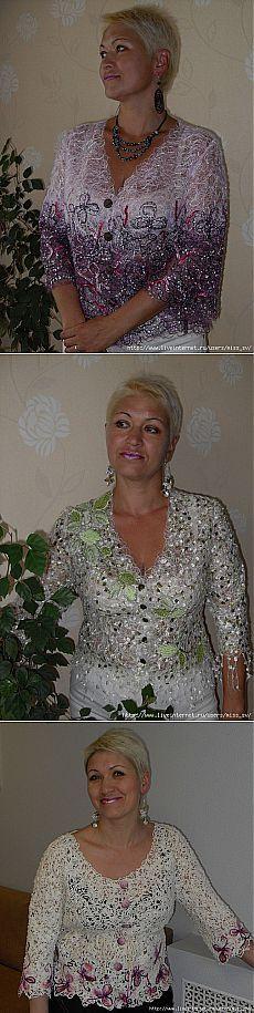 Авторские работы Валентины Власовой в технике крейзи.