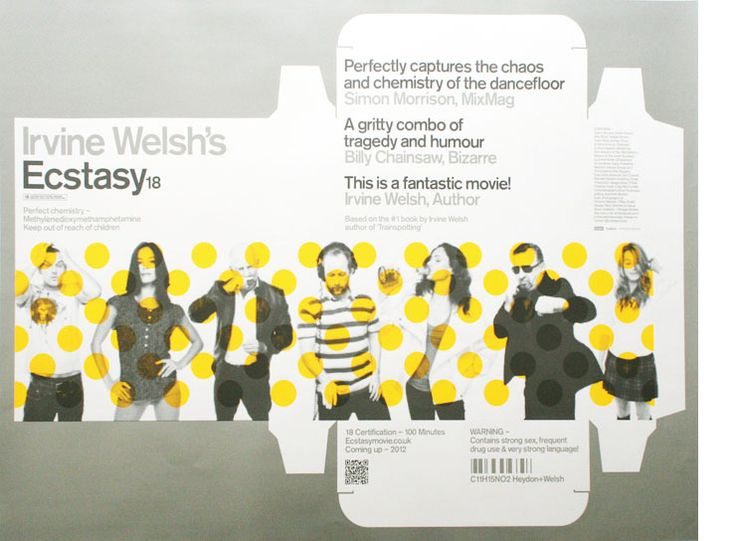 Irvine Welsh - Ecstasy adaptation poster by Neue. Nice!