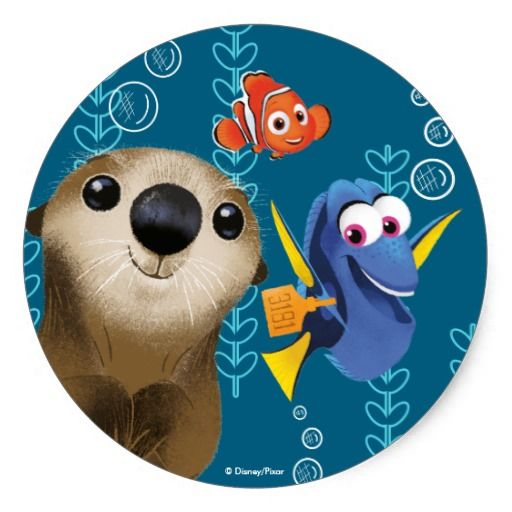 Finding Dory | Nemo, Dory & Otter. Regalos, Gifts. #sticker