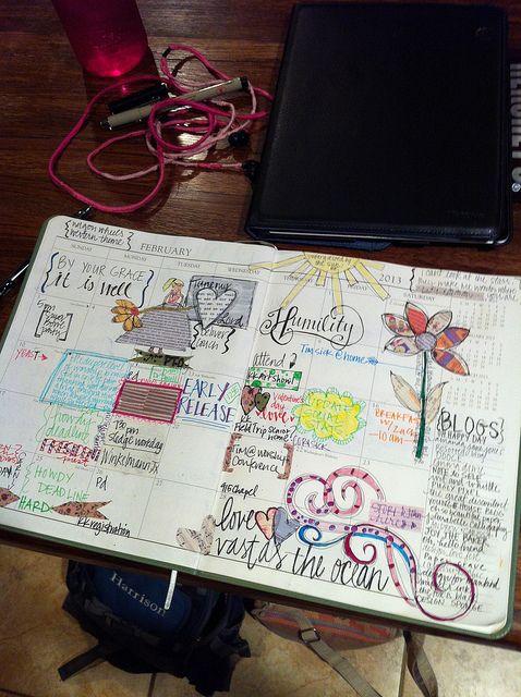 calender jornaling thesuels.blogspot.com - Love this idea!!! A sketch a day!
