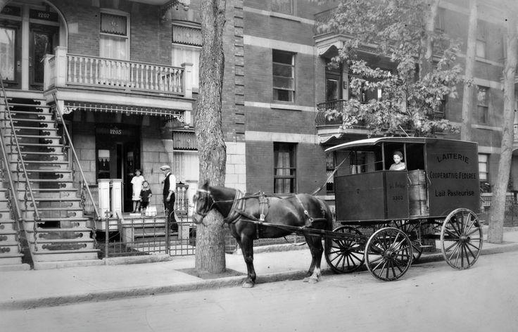 Livraison du lait à Montréal, 1920-1930