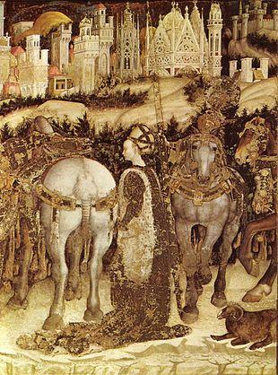 Pisanello - San Giorgio e la principessa (dettaglio, 1436-1438 circa), chiesa di Sant'Anastasia, Verona