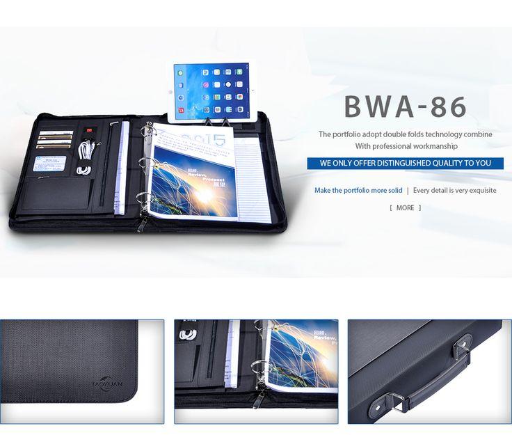PU Leather handle portfolio bag,3 ring portfolio folder #leather #3ringbinder #binder #holder